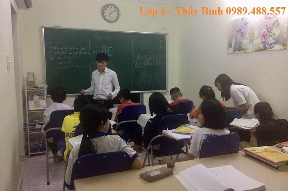 Học thêm Toán lớp 6 Thầy Bình – Giáo viên Toán giỏi Hà Nội